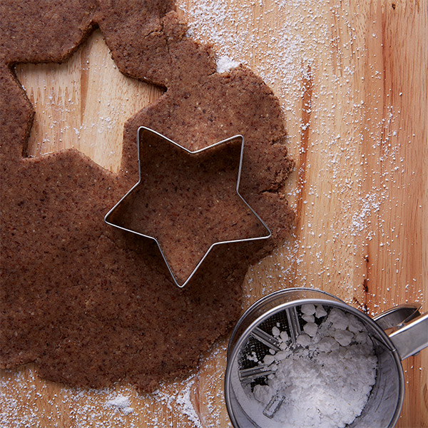 German Cinnamon Star Cookies