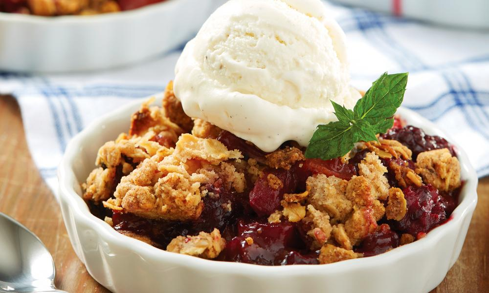 Michaelmas blackberry crisp