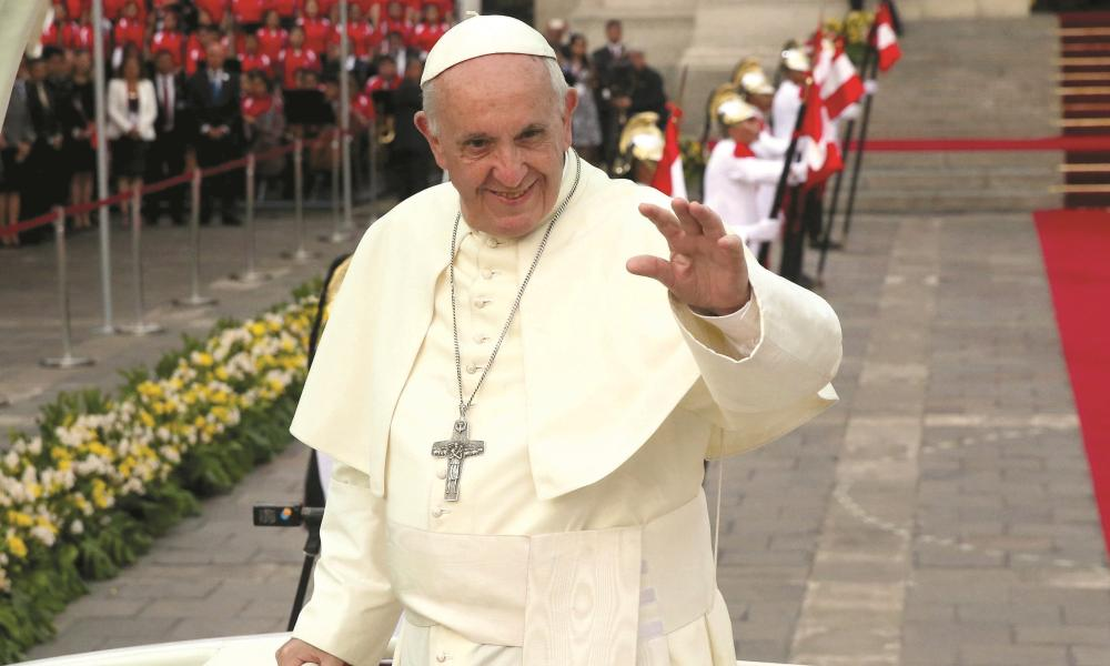 Pope Francis celebrates his fifth anniversary