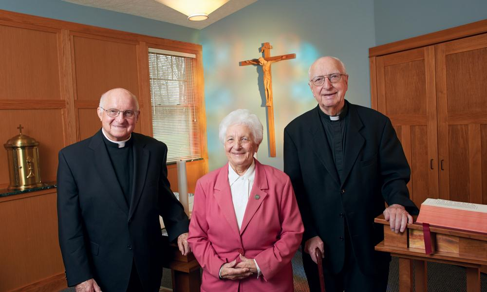Two priests and a sister who live for God