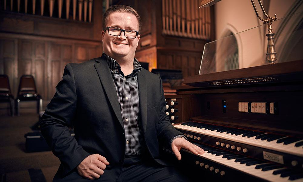 As a church musician, Dominic is constantly 'inviting others into prayer'