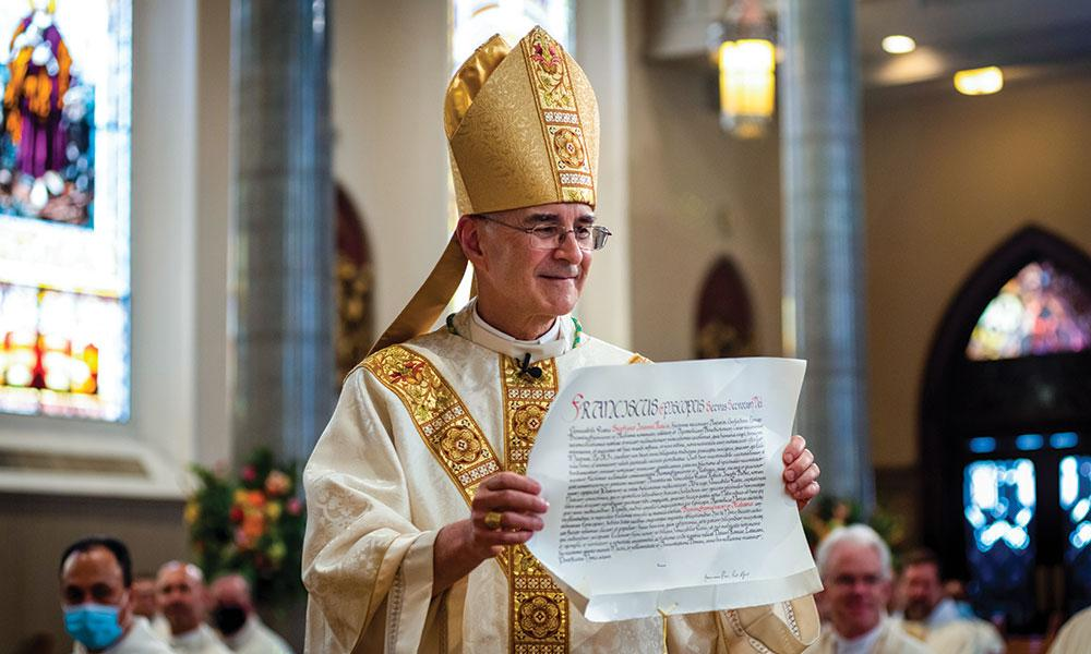 Former Diocese of Lansing chancellor becomes installed as fifth Bishop of Birmingham