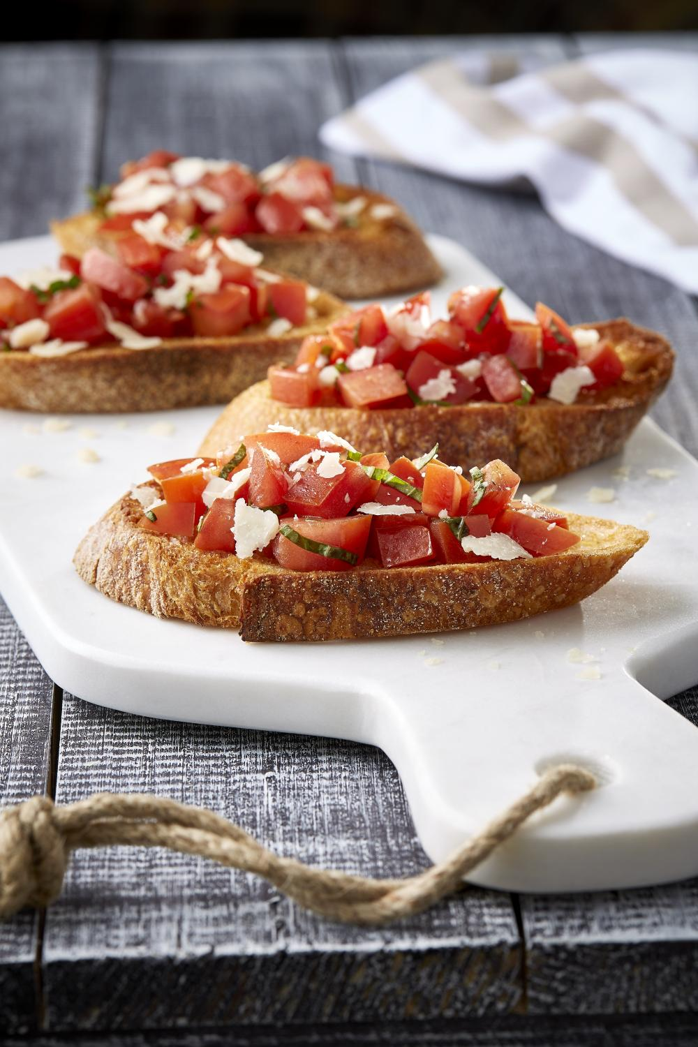 We can't live on bread alone … but try this bruschetta