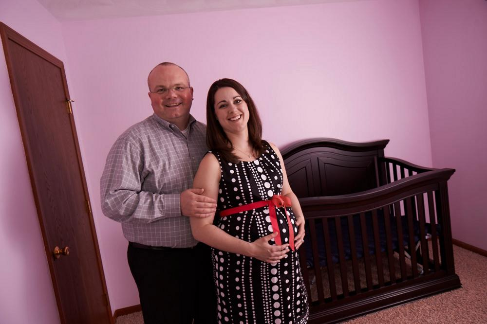 Kim and Dave are expecting a girl! Thanks to Creighton NFP
