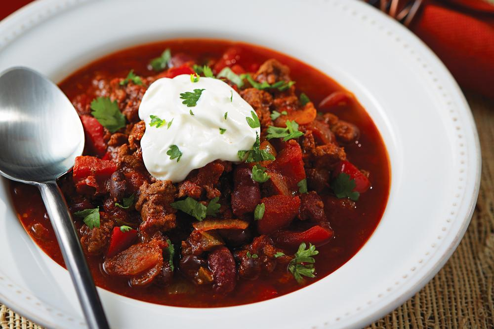 Slow-cooker chili to break a fast
