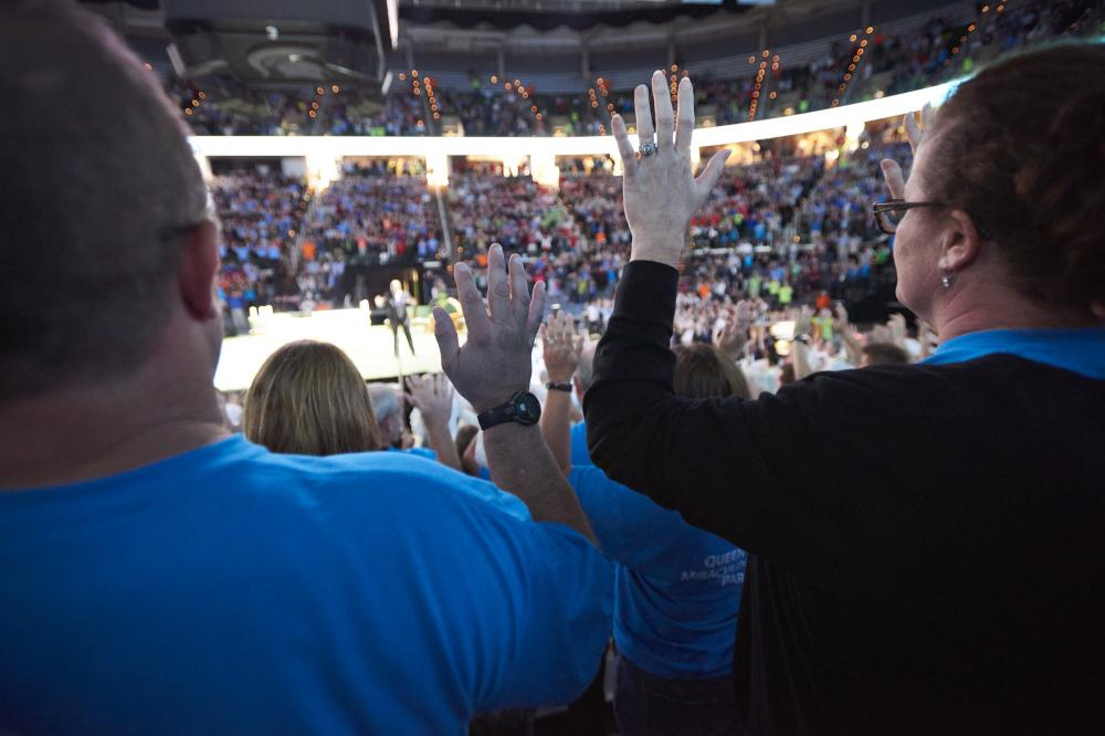 Catholics from all across the Diocese of Lansing gathered at the Breslin Center