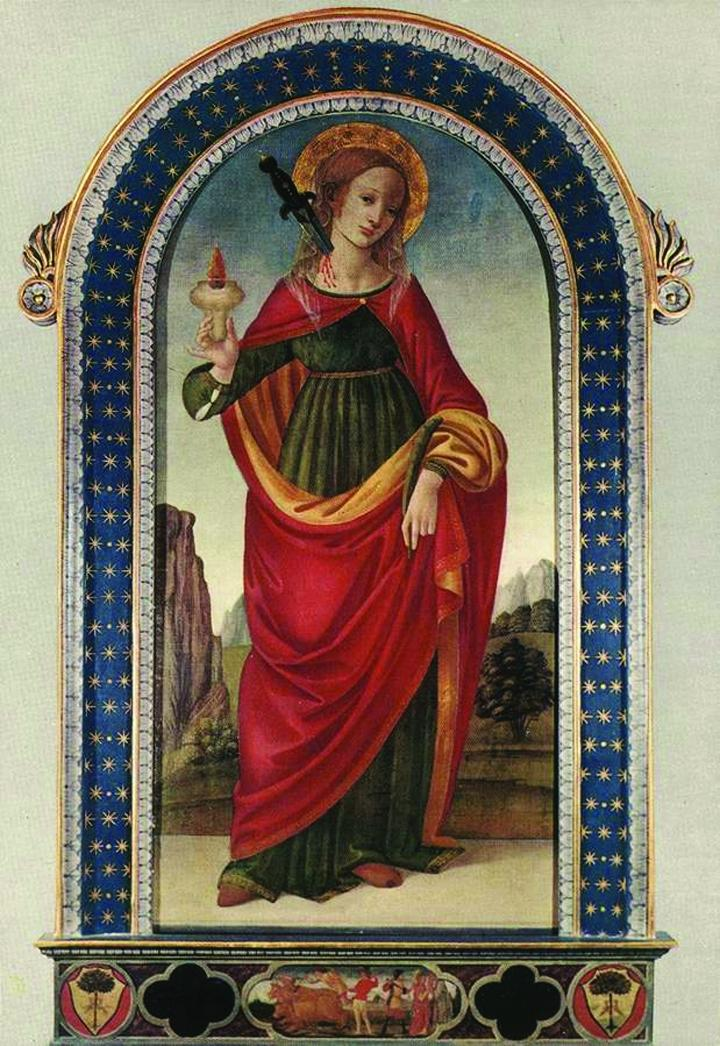 Giving light to the blind – St. Lucy